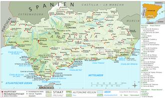 Andalousie Carte Didentite.Histoire De L Andalousie Wikipedia