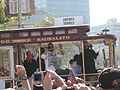 Andrés Torres at Giants 2010 World Series victory parade 2.JPG