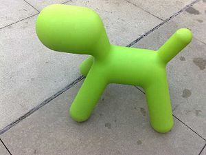 Eero Aarnio - Puppy toy by Eero Aarnio at the Googleplex, 2008