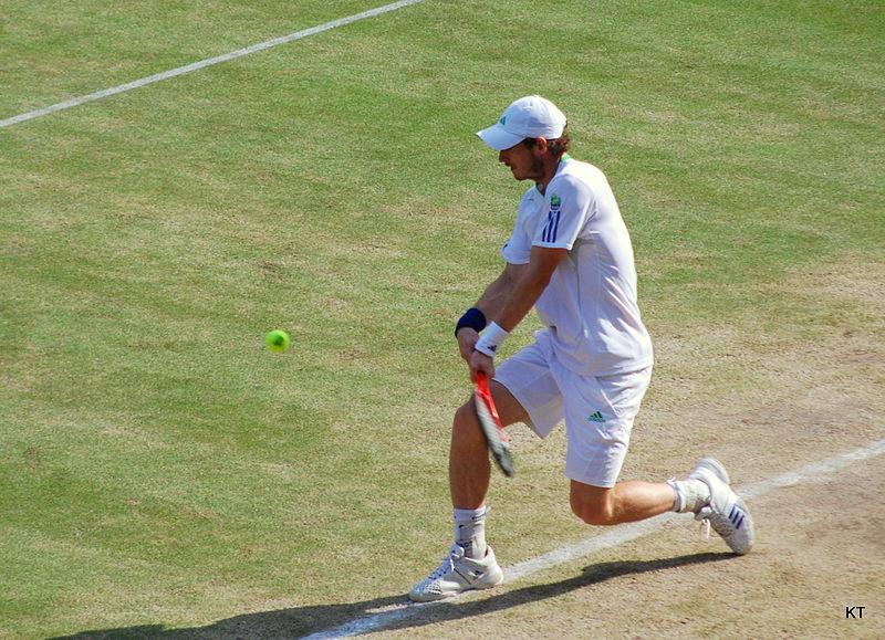 File:Andy Murray backhand at Wimbledon.jpg