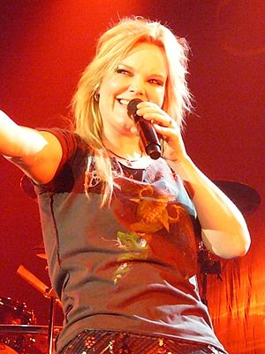 Anette Olzon - Olzon performing with Nightwish in 2009