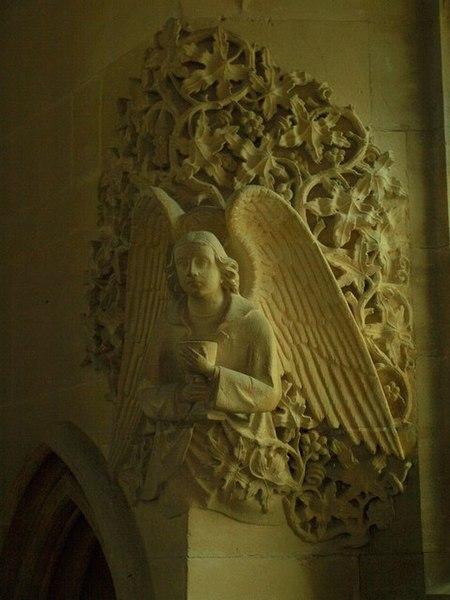 File:Angel and foliage, All Saints Church, Kingweston - geograph.org.uk - 1014314.jpg