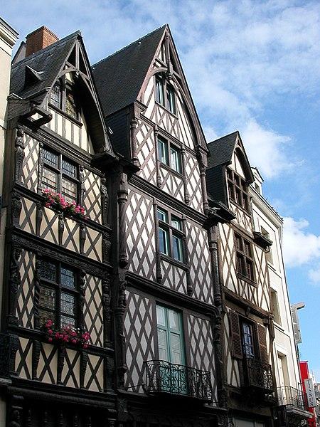 Maisons à colombage à Angers, rue de l'Oisellerie.