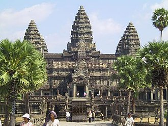 12th century - The temple complex of Angkor Wat, built during the reign of Suryavarman II in Cambodia of the Khmer Era.