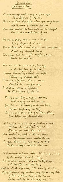 Annabel Lee Poe Wikipedia