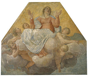 Mural Paintings from the Herrera Chapel - Image: Annibale Carraci & Francesco Albani Assumption of the Virgin MNAC