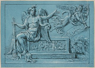 Design for a high relief with winged genius