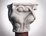 Anonyme toulousain - Chapiteau de colonne simple , Lions dans des lianes - Musée des Augustins - ME 221 (3).jpg