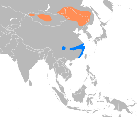 Anser cygnoides distribution map.png