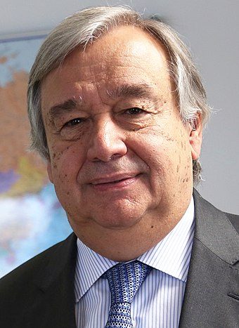 The current Secretary-General, António Guterres António Guterres November 2016.jpg