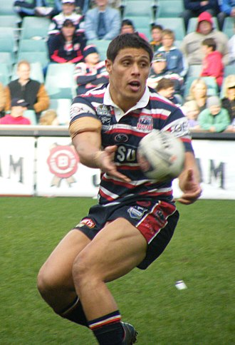 Anthony Tupou - Tupou playing for the Roosters in 2008