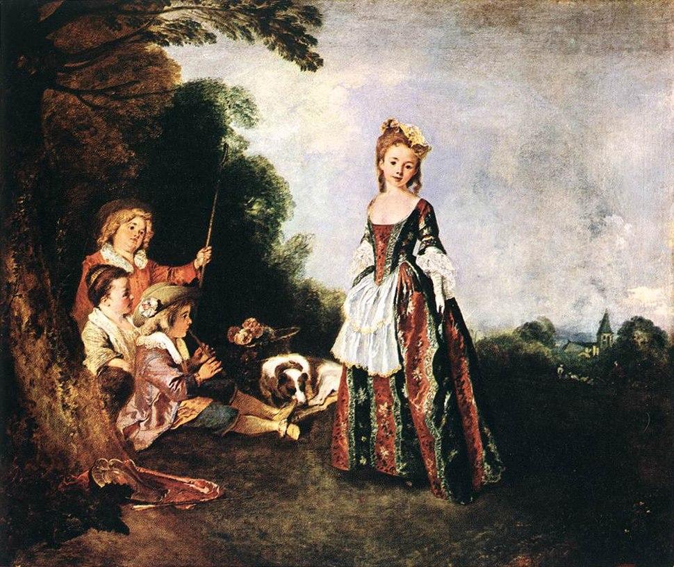 Antoine Watteau - The Dance - WGA25477