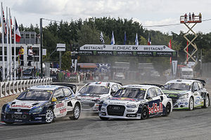 2015 World RX of France - Tord Linnerud, Anton Marklund, Gaëtan Sérazin and Jonathan Pailler