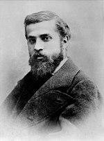 Antoni Placid Gaudí i Cornet, em foto de 15 de março de 1878, Barcelona, Espanha, por Pau Audouard
