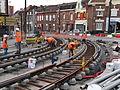 Anzin & Valenciennes - Travaux de raccordement des lignes A & B du tramway de Valenciennes à la Croix d'Anzin le 20 août 2013 (14).JPG