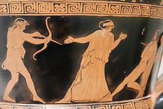 Apollonian and Dionysian - Apollo killing Tityos