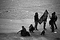 Arba'een In Mehran City 2016 - Iran (Black And White Photography-Mostafa Meraji) اربعین در مهران- ایران- عکس های سیاه و سفید 45.jpg