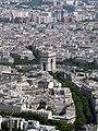 Arc de Triomphe from the Eiffel Tower, Paris June 2014 002.jpg
