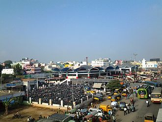 Hosur - Image: Area view of New Bus station