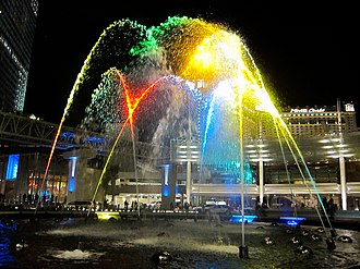 CityCenter - Image: Aria Fountain (4342521302)