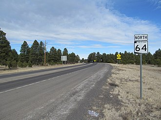 Arizona State Route 64 - Northbound in Williams