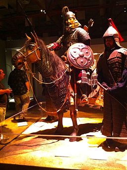 Armor Display, Genghis Khan Exhibit, Tech Museum San José, 2010