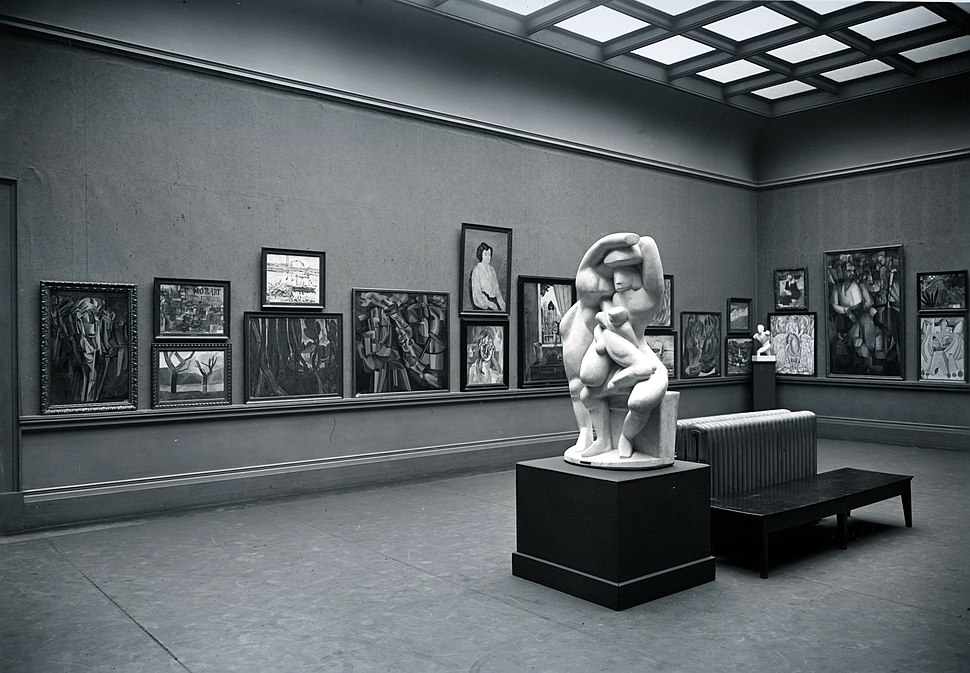 Armory Show, International Exhibition of Modern Art, Chicago, 1913. The Cubist room