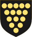 Arms of the Duchy of Cornwall (Variant 1).svg