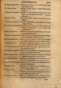 Arnold Wion - Lignum Vitae - 1595 - p309