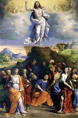 Ascensione di Cristo, dipinto di Benvenuto Tisi da Garofalo, 1510