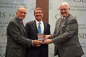 John Hamre -  John Hamre (right) with Ash Carter (center) and Sam Nunn