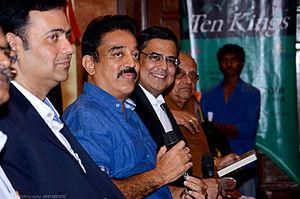 Ashok Banker - Ashok Banker and Kamal Haasan at the Ten Kings book launch in Chennai, November 2014