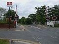 Ashtead station level crossing look northwest.JPG