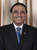 A portrait of Asif Ali Zardari