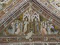 Assisi, santa chiara, interno, maestro espressionista di santa Chiara, volta con sante Agnese vergine sorella di Chiara e Agnese martire.JPG