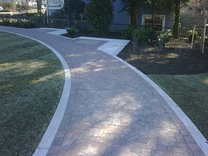 Hardscape - Sidewalks are a common form of hardscaping