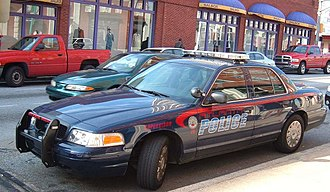 Atlanta Police Department - An APD Ford Crown Victoria Police Interceptor parked by the station at Underground Atlanta