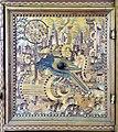 Augusta o tirolo, stipo da lavoro in legno di ciliegio con intarsi, 1550-1600 ca. 06 pappagallo.jpg