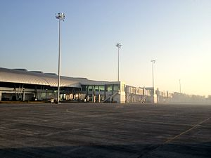 Aurangabad Airport - Image: Aurangabad Airport Air side view