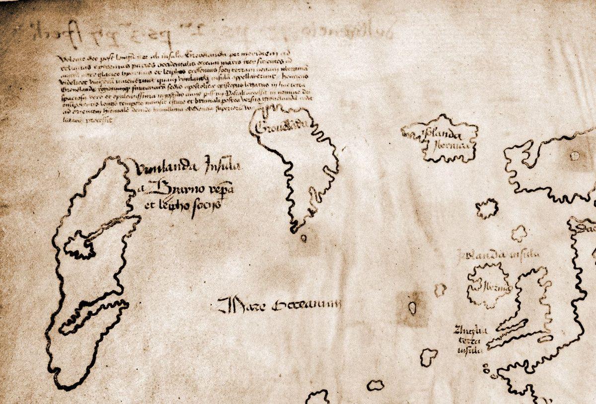 File Ausschnitt Der Vinland Karte Jpg Wikimedia Commons
