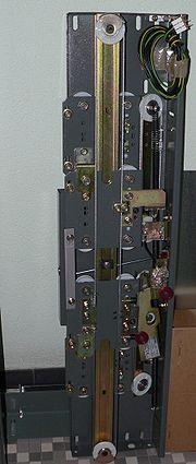 Mechanism of the sliding door of an elevator