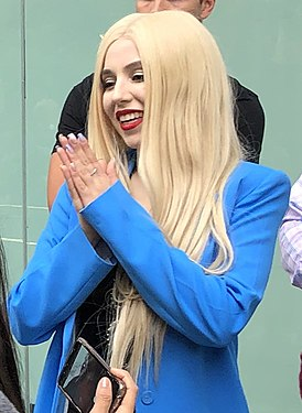 Ava Max meeting fans (cropped).jpg