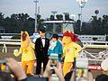 Ayame Goriki, Takumi Saito, and Umatase in Tokyo Daishoten Day at Oi racecourse (31841525442).jpg