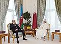 Azerbaijani President, Emir of Qatar had one-on-one meeting, 2017 03.jpg