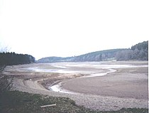 Bütgenbach Lake drained.jpg