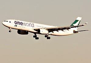 Cathay Pacific fleet - Cathay Pacific Airbus A330-300 in oneworld special livery