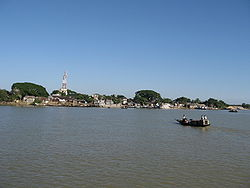 Jamalganj upazila, as seen from Surma river