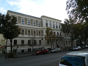 Budapest Business School - College of Commerce, Catering and Tourism historical building campus in downtown