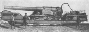 BL 9.2-inch railway gun - The gun at Belfast, August 1900