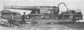 BL 9.2-inch railway gun - The gun at Belfast, August 1900